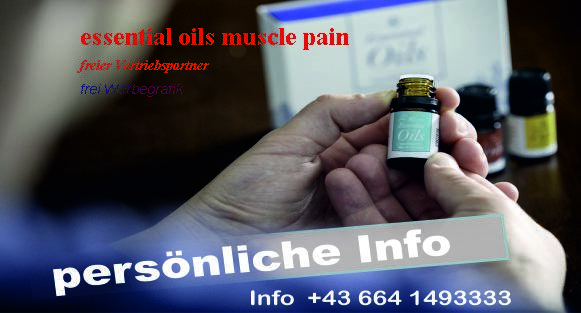 essential oils muscle pain